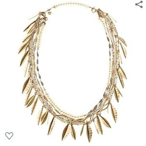Stella & Dot Garland Fringe Gold Necklace